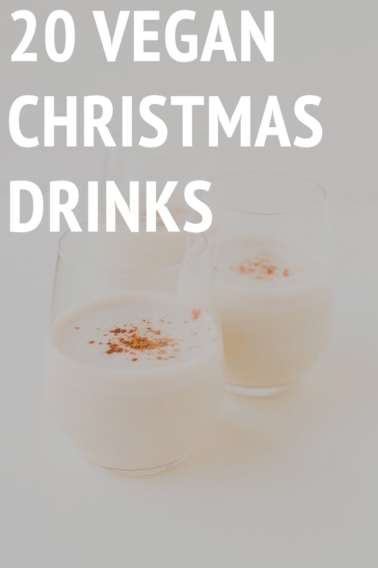 20 Vegan Christmas Drinks - Here are 20 vegan Christmas drinks for you to choose from. You'll find all kinds of beverages here: alcoholic, non-alcoholic, sweet, healthy or digestive. Cheers! #vegan #glutenfree #simpleveganblog