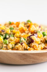 Vegan Cauliflower Fried Rice. - Vegan cauliflower fried rice, a plant-based version of this classic Chinese dish, made with cauliflower instead of rice. Only 6 ingredients required! #vegan #glutenfree #simpleveganblog