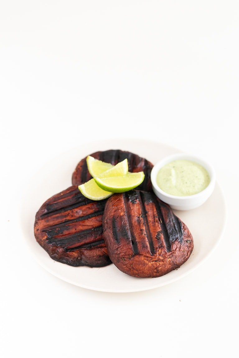 Portobello Steaks. - These juicy portobello steaks are made with just 7 ingredients in 25 minutes. They're a delicious, healthy, plant-based alternative to classic steaks. #vegan #glutenfree #simpleveganblog