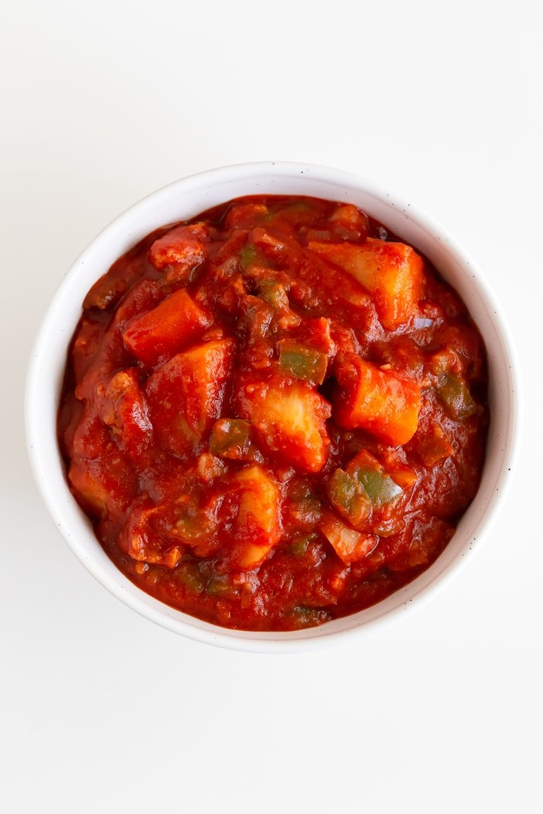 Vegan Goulash. - Vegan goulash, a plant-based version of this classic Hungarian stew. It's so tasty, comforting and a one-pot meal for the whole family. #vegan #glutenfree #simpleveganblog