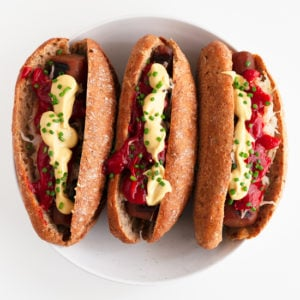 Vegan Carrot Hot Dogs. - Vegan carrot hot dogs, a plant-based alternative to classic hot dogs! They're much healthier and perfect for barbecues. #vegan #glutenfree #simpleveganblog