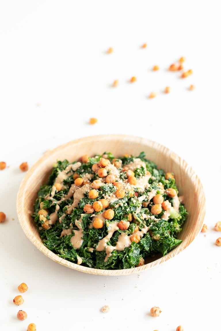 how to make kale caesar salad
