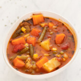 Image of a bowl of homemade vegetable soup