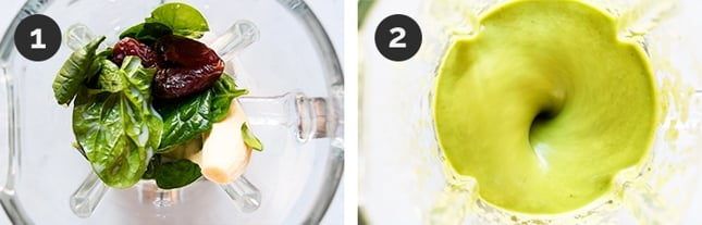 Step by step photos of how to make avocado smoothie