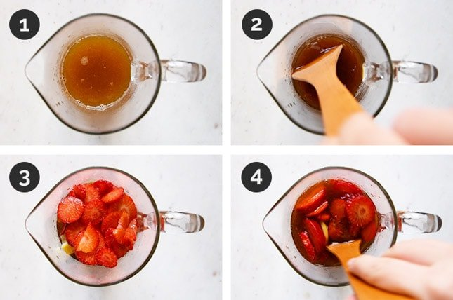 Step by step photos of how to make white sangria
