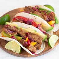 Small picture of a dish with some fajitas