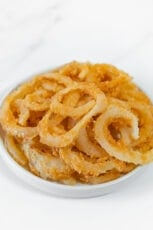 Photo of a plate of homemade French fried onions