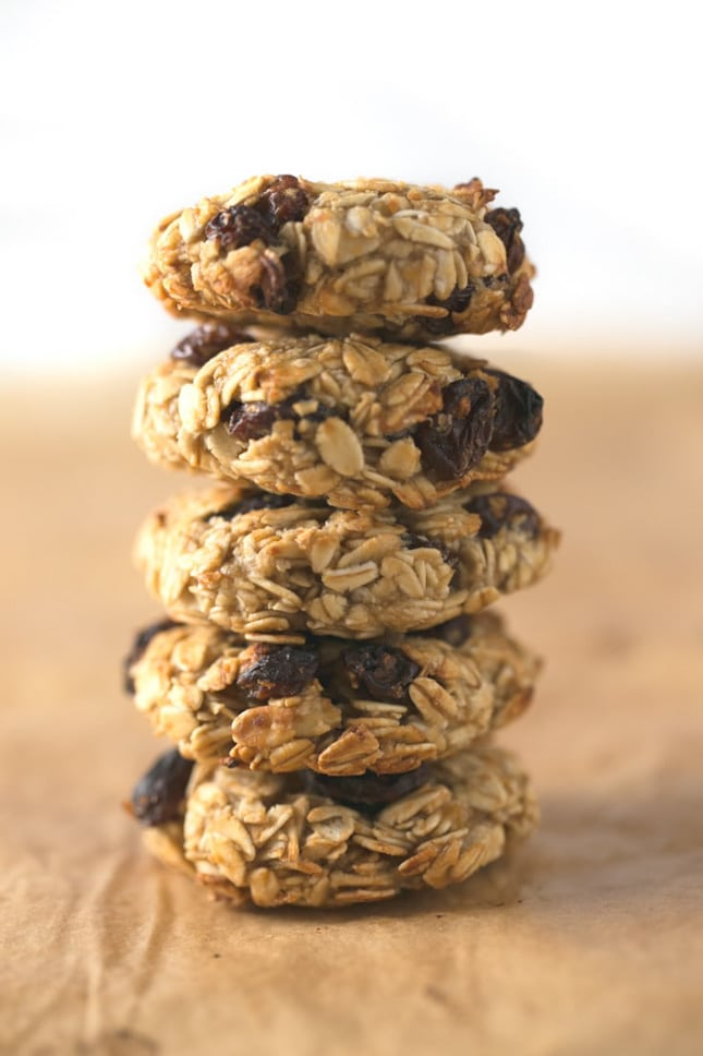 Photo of a pile of 5-ingredient oatmeal cookies