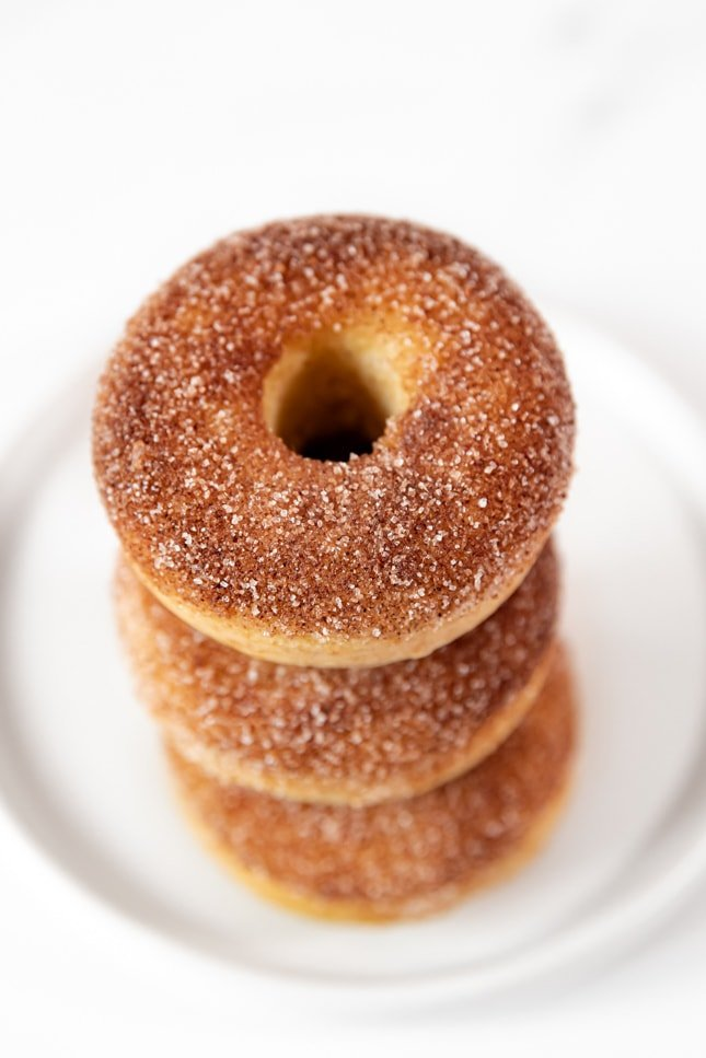Photo of a pile of vegan donuts