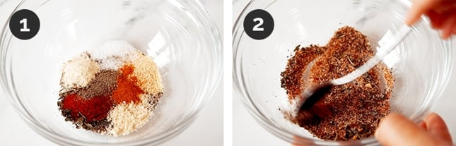 Step-by-step photos of how to make chicken seasoning