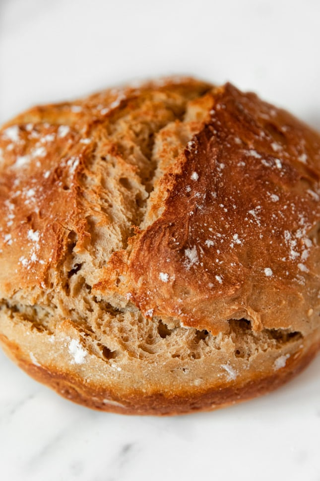 Photo of a whole loaf of vegan bread