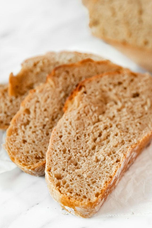 Photo of some slices of vegan bread