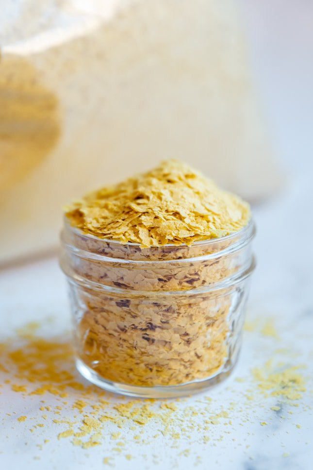 Photo of a bowl of nutritional yeast