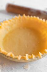 Photo of a homemade vegan pie crust