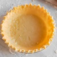 Square photo of a vegan pie crust