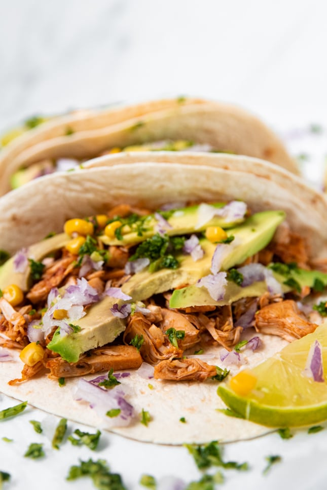 Photo of some jackfruit tacos