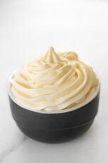 PHoto of a bowl of vegan cream cheese frosting