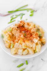 Photo of a bowl of vegan potato salad