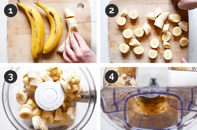 Step-by-step photos of how to make vegan ice cream