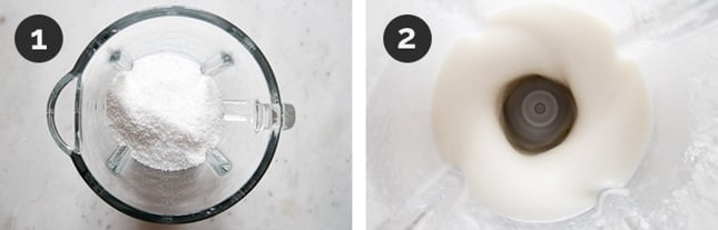 Step-by-step photos of how to make coconut butter