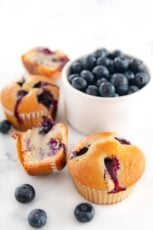 Photo of some vegan blueberry muffins