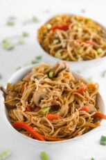 Photo of two bowls of vegetable chow mein