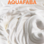 Photo of some whipped aquafaba with the words how to make aquafaba