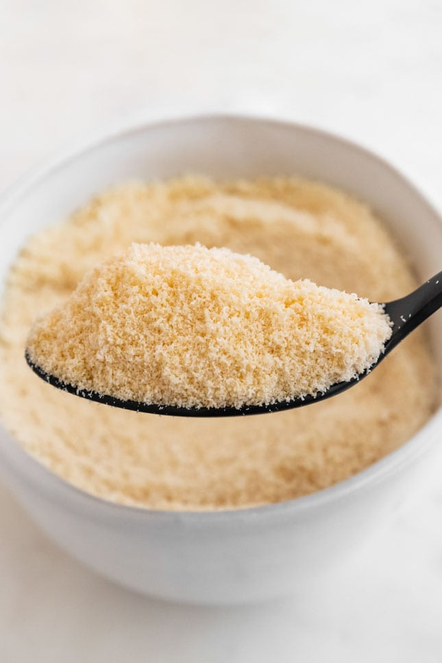 Photo of a spoonful of homemade coconut flour