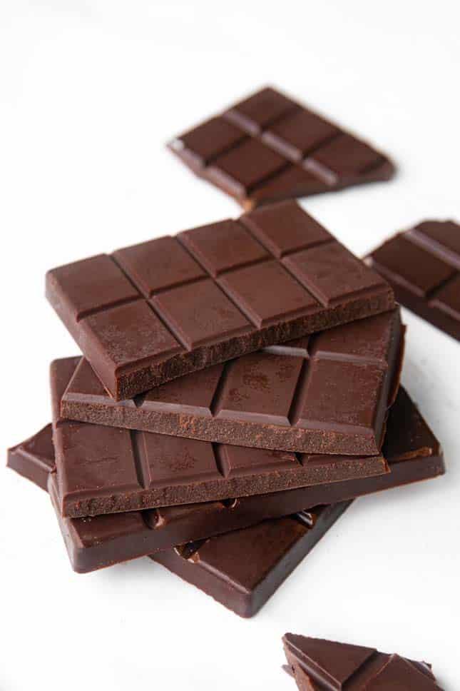 Photo of 2 barks of vegan chocolate