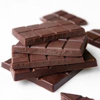 Square photo of 2 barks of vegan chocolate