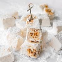 Square photo of some vegan marshmallows
