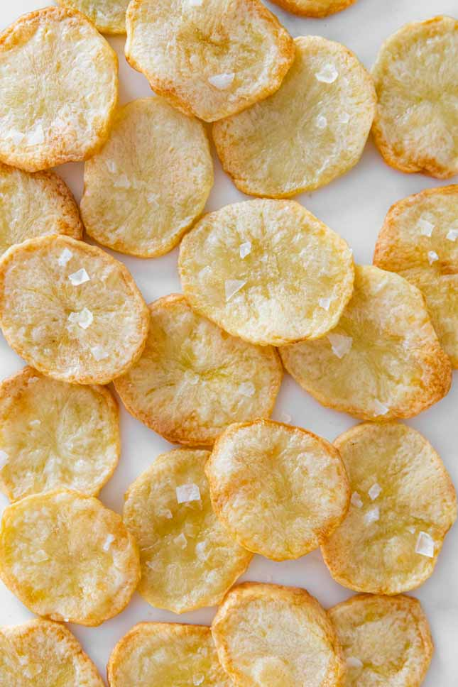 Photo of some baked chips taken from the above