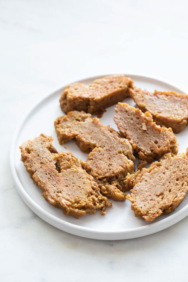 Photo of some seitan dishes on a plate