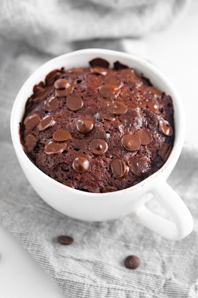 Photo of a vegan mug cake