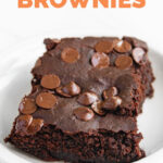 Photo of a piece of black bean brownies with the words black bean brownies