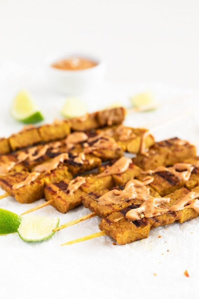 Photo of tempeh satay