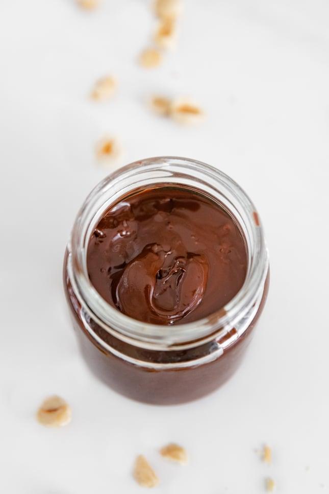Photo of a jar of vegan Nutella