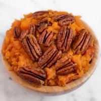 Square photo of a vegan sweet potato casserole