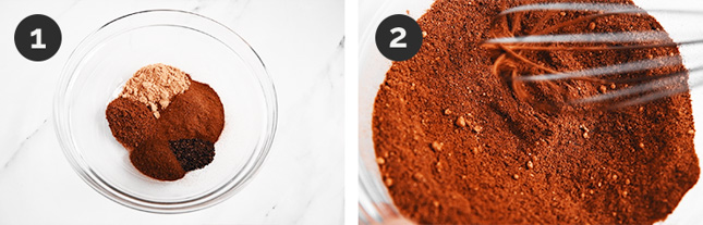 Step-by-step photos of how to make pumpkin pie spice